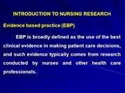 1 introduction to nursing research