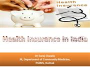 Health Insurance in India- Suraj Chawla