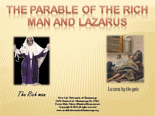 Parable of the Rich Man And Lazarus |authorSTREAM