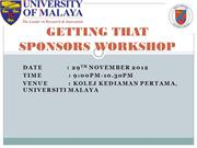 GETTING THAT SPONSORS WORKSHOP