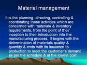 Material Mgt. - LecTuRe