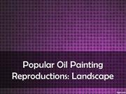 Popular Oil Painting Reproductions Landscape