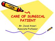 Care of Surgical Patient