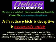 Deluxe Rent A Car - ACRF Fraud