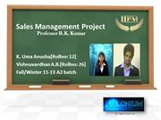 Sales Management Project