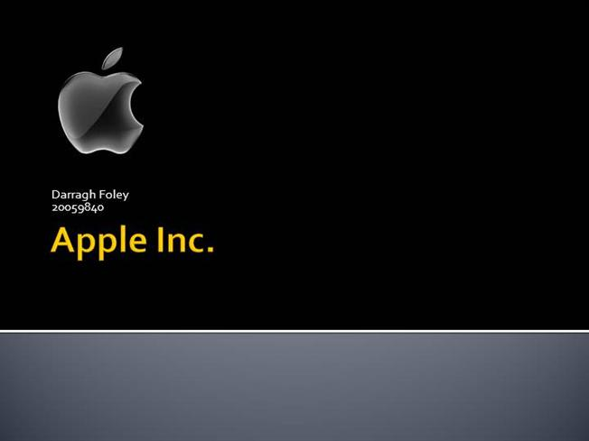 Apple Presentation |authorSTREAM