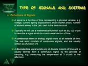 Types of Signals & Syatems