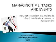 MANAGING TIME, TASKS AND EVENTS - Kopia