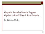 Module 12 -  SEO and Paid Search R2