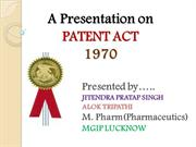 PATENT ACT
