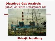 DISSOLVED GAS ANALYSIS OF POWER TRANSFORMER