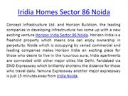 Iridia Homes Sector 86 Noida iridia