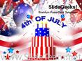 4TH OF JULY CELEBRATIONS AMERICAN POWERPOINT THEME