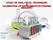 calibration of analytical instruments