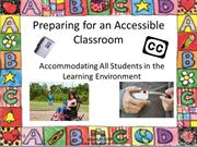 Preparing for an Accessible Classroom