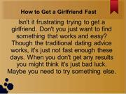 get a girlfriend
