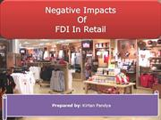 FDI in Retail (Negative impacts)