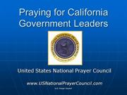 Praying or California State Government Leaders
