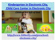 Kindergarten in Electronic City, Child Care Center in Electronic City-