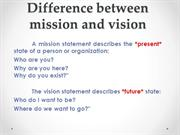 mission and vission