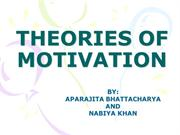 III - THEORIES OF MOTIVATION- Aprajeeta and Nabiya