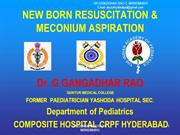 NEW BORN RESUSCITATION -DR GGRAO