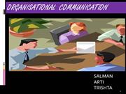 III - ORGANIZATIONAL COMMUNICATION