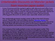 Unbelievable Discounts on Moncler jackets from moncler-japan-outlet