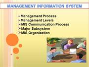 MIS(management information System)