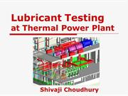 Lubricant testing in THERMAL POWER PLANTS