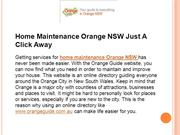Home Maintenance Orange NSW Just A Click Away