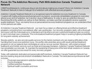 Focus On The Addiction Recovery Path With Addiction Canada Treatment N