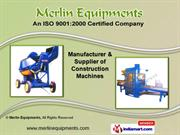 Fly Ash Brick Machines by Merlin Equipments, Coimbatore