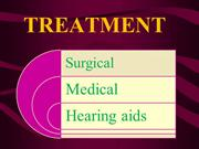 treatment of otosclerosis