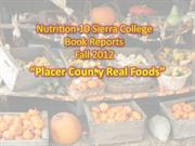 Nutrition 10 Book Reports