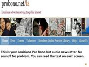 DECEMBER 2012 LOUISIANA PRO BONO NET