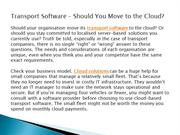 Transport Software – Should You Move to the Cloud
