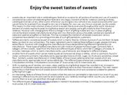 Enjoy the sweet tastes of sweets