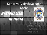 Nationalism In India class 10