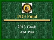 Hanover Country Club 1923 Fund 2013