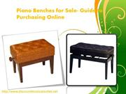 Piano Benches for Sale - Guide to Purchasing Online