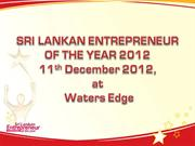 SRI LANKAN ENTREPRENEUR OF THE YEAR 2012