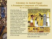 Literature in Ancient Egypt