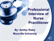 Professional Interview of Nurse Practitioner