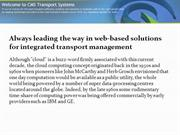 CMS Transport Systems | Cloud Solutions