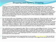 Shopping and mystery shopping
