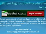 +91-8800-100-281 : Patent Registration Procedure In India