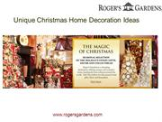 Unique Christmas Home Decoration Ideas