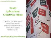 Youth Icebreakers - Christmas Taboo