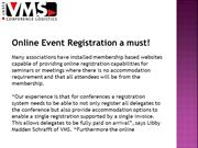 VMS Conferences | Online Event Registration a must!